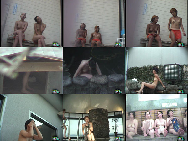 浴場の天女たち 自然の中の裸女の群れ 1-5
