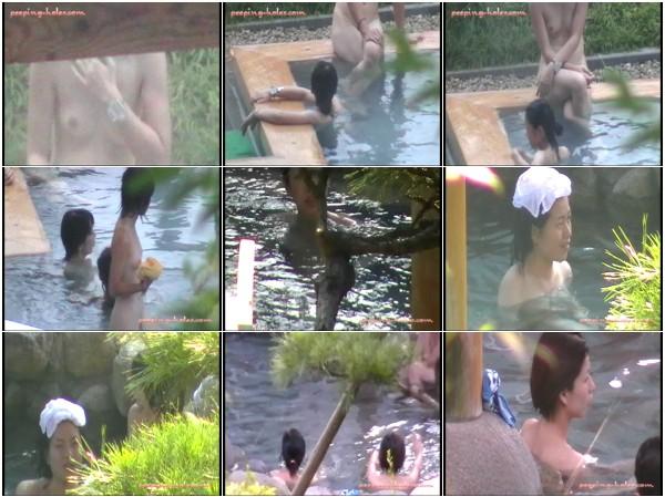 絶景温泉旅館!! 秘境の露天風呂盗撮 31-35
