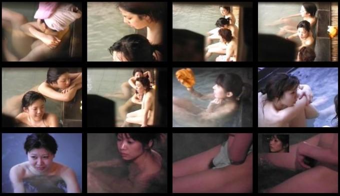 露天美女入浴1-2