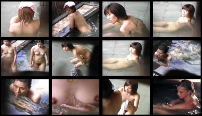 露天美女入浴3