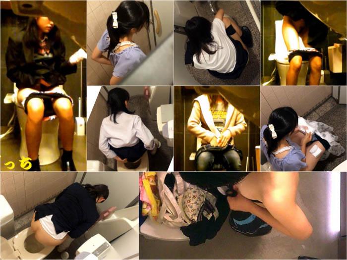 digi-tents toilet 1, JX陸上女子☆露出度の高いユニフォームな○学生♪♪他トイレetc4本