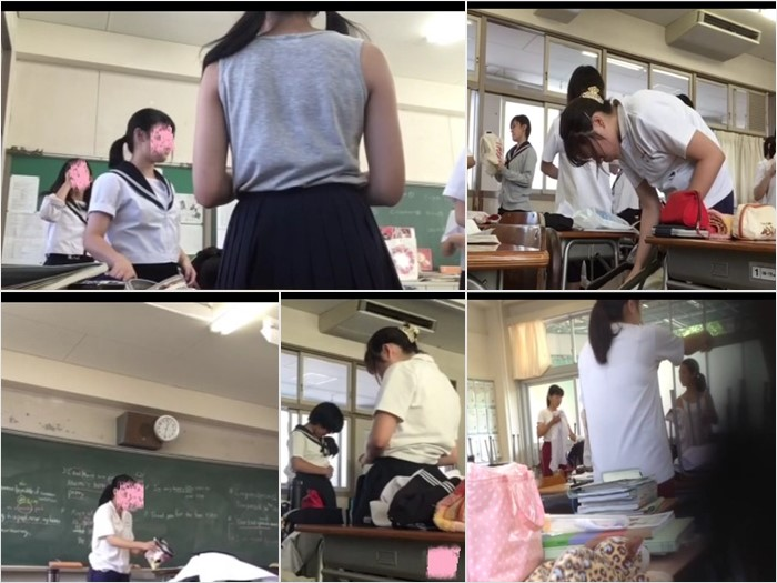 【着替え盗撮】女子校のC2の教室潜入