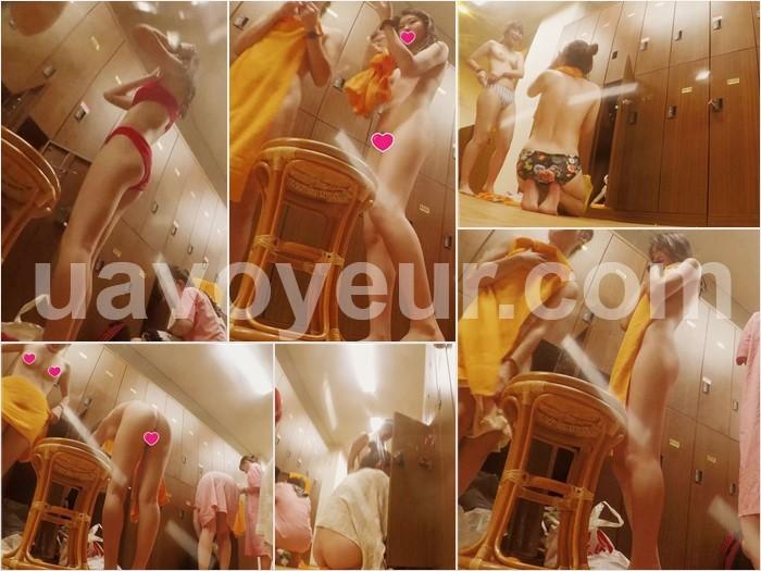 【実録、更衣室○撮 vol.16】~縞々パンツのJD&赤い下着のJK編~