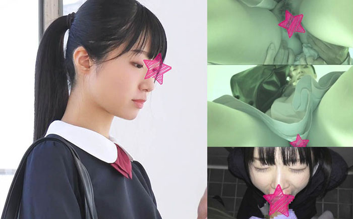 【電車チカン】顔出し制服J○★過去最も清楚な美少女が初めてをチカンに奪われる衝撃映像