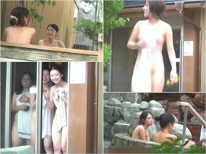 女子大生風な露天風呂3