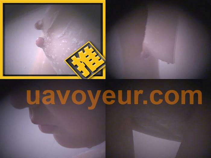 巨乳美女のシャワーシーン【覗き穴からノゾム濡れた女体 Vol.01】